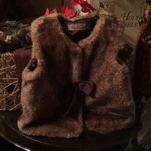 Toddler faux fur vest